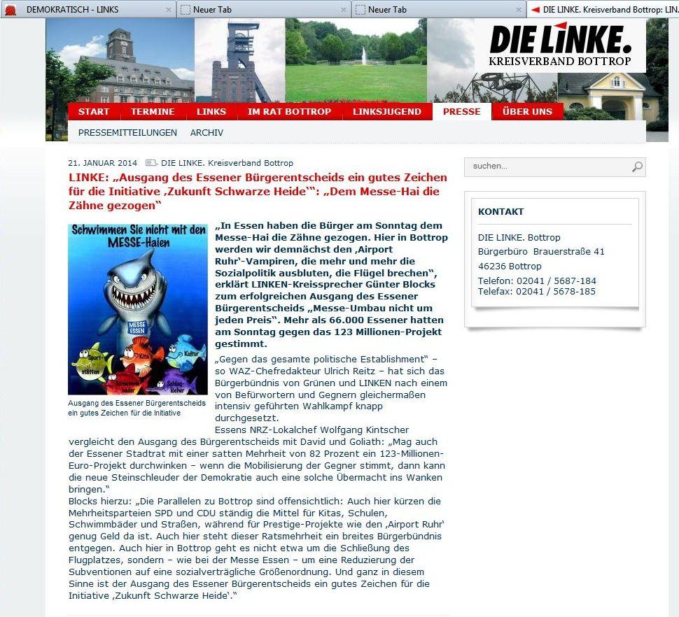 DEMOKRATISCH – LINKS » 2014 » Februar